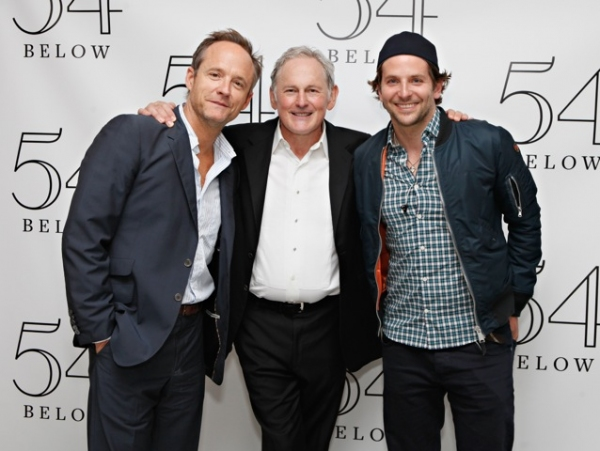 John Benjamin Hickey, Victor Garber, Bradley Cooper at Bradley Cooper, Nathan Lane, and More Visit Victor Garber at 54 Below!