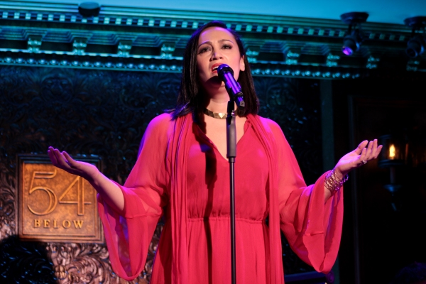 Eden Espinosa at Eden Espinoza, Titus Burgess, Faith Prince & More Give Concert Preview at 54 Below!