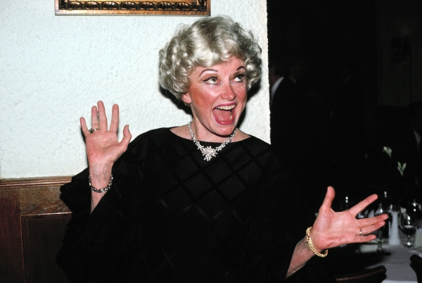 Phyllis Diller in New York City. October 1982