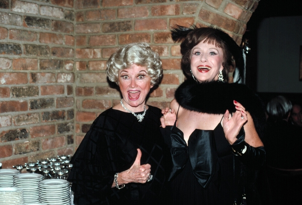 Phyllis Diller and Ruth Warrick in  New York City New York. October 1982