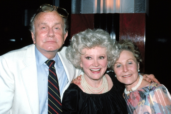 Jack Parr , Phyllis Diller , Marim Parr in New York.  June 1989