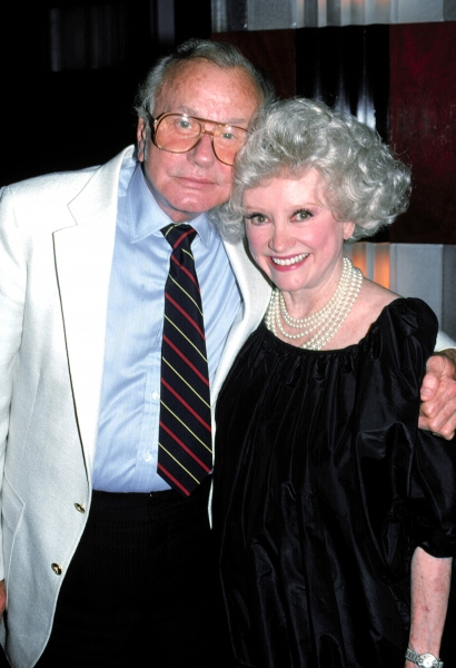 Jack Parr and Phyllis Diller  in New York City.  June 1989