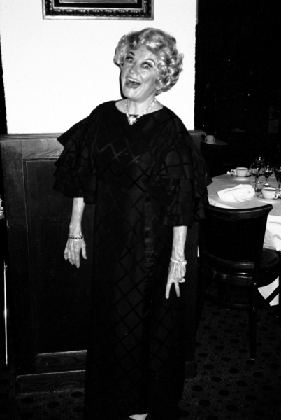 Phyllis Diller in New York City.  October 1981