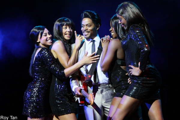 Chris Tummings as Ike Turner with the Cast of SOUL SISTER