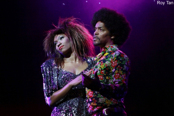 Emi Wokoma as Tina Turner and Chris Tummings as Ike Turner