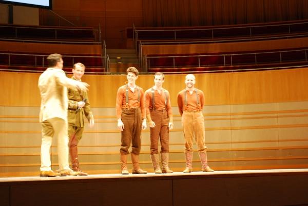 Bob Bucci, Ian Piears (Joey Hind), Stuart Angell (Joey Heart), Tommy Luther (Joey Head) with Tim Lewis (Captain Nicholls)