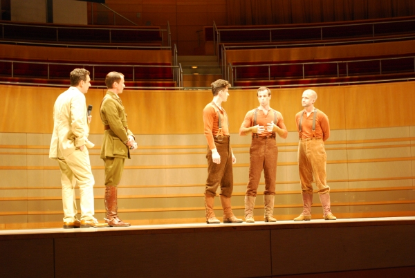 Bob Bucci, Ian Piears (Joey Hind), Stuart Angell (Joey Heart), Tommy Luther (Joey Head) with Tim Lewis (Captain Nicholls)