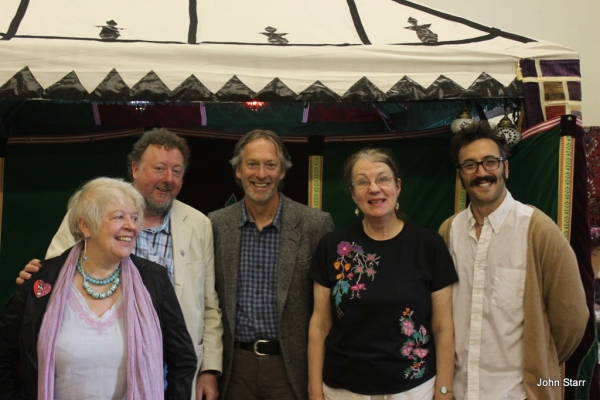 Liz Lochhead, John Sampson, John Glenday, Stephanie Green and Ryan Van Winkle
