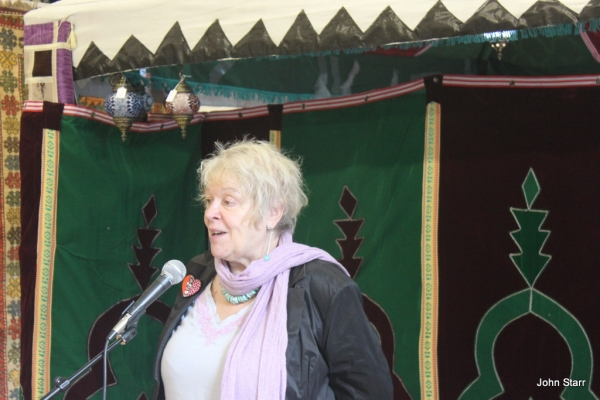 Liz Lochhead at Poetry in the Persian Tent Opens at Edinburgh's Festival of Spirituality and Peace