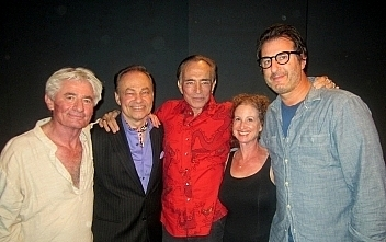 left to right: Larry Eisenberg, Lloyd Pedersen, director Jules Aaron, Julia Silverman, Robbie Baitz