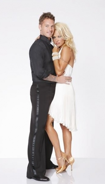 Tristan Macmanus, Pamela Anderson at ABC Gives a First Look at DANCING WITH THE STARS: ALL STARS Dance Couples!