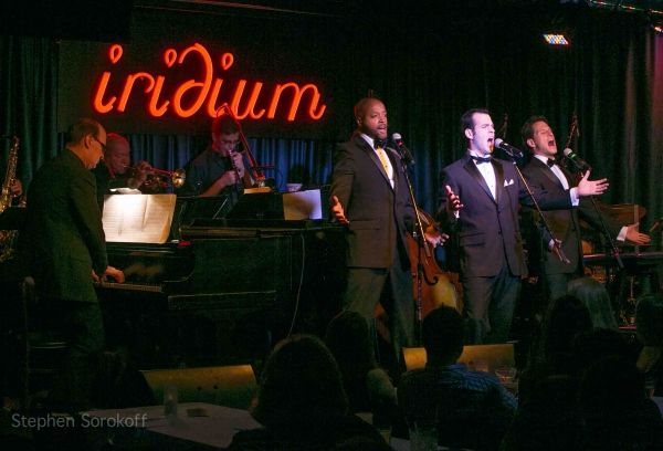 Cary Von Murray, Anthony Apicella, Jim Cargill at The Cat Pack Visits Iridium Jazz Club