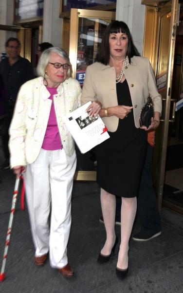 Liz Smith & Anjelica Huston at Kristin Davis, John Larroquette, and More Celebrate Gore Vidal