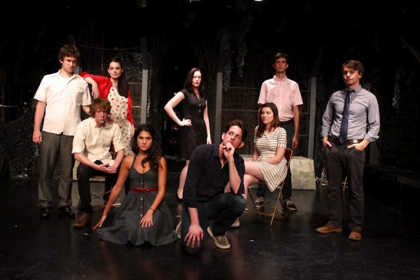 Cast of The IMPROVISED Play (from left to right): Hunter Nelson, Zack Willis, Carrie McCrossen, Lisa Kleinman, Gia Ingram, Matt Dennie, Jackie Jennings, Josh Sharp, and Chris Principe.