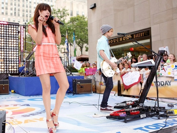 Carly Rae Jepsen at Carly Rae Jepsen, Train Perform on NBC's TODAY