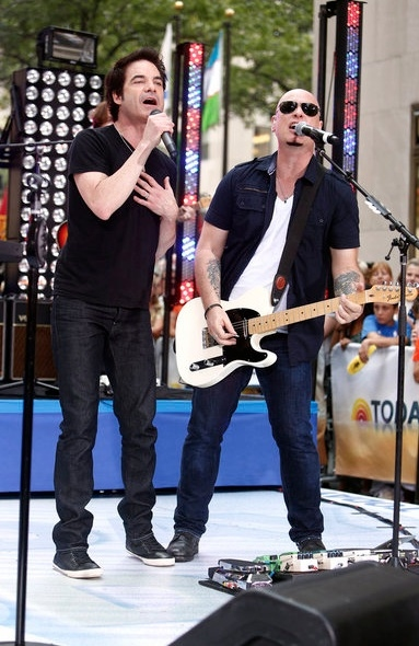 Pat Monahan and Jimmy Stafford of Train
