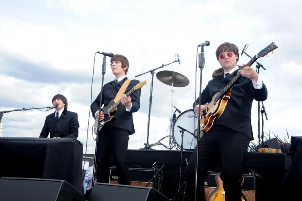 Photo Flash: West End's LET IT BE Plays Rooftop Gig!