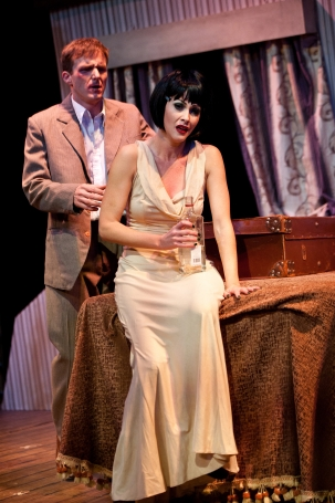 Bryan Hiles and Samatha Peo in CABARET