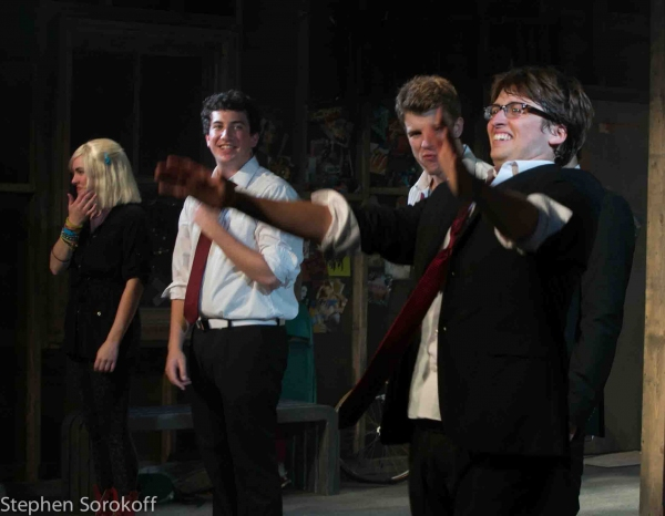 Sarah Cetrulo, Harrison Chad, Jason Hite, Will Roland at First Look at Barrington Stage Company's THE BLACK SUITS