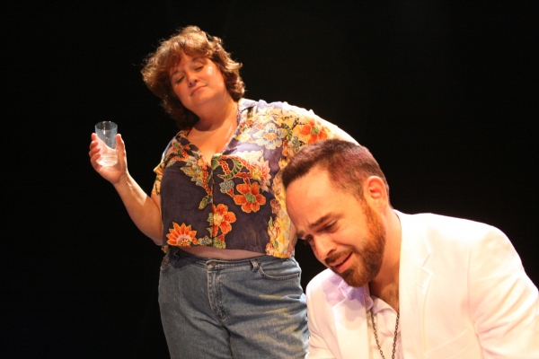 Tricia Corcoran as Maxine Faulk and Timothy Riggs as The Reverend Lawrence T. Shannon Photo