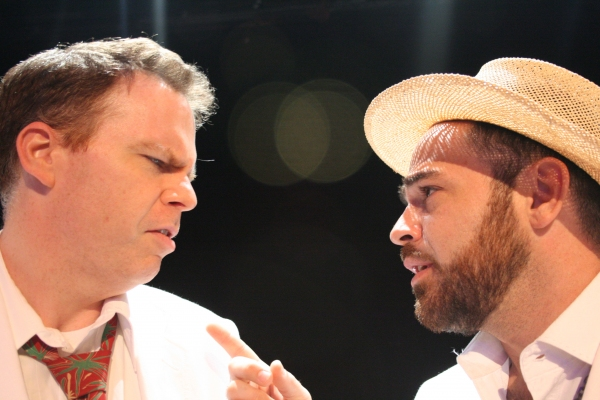 Robert Adams as Jake Latta and Timothy Riggs as The Reverend Lawrence T. Shannon Photo
