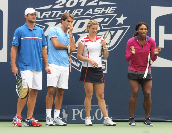 Andy Roddick, Roger Federer, Kim Clijsters, Serena Williams