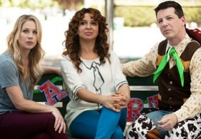 Christina Applegate, Maya Rudolph and Sean Hayes at First Look - Sean Hayes on NBC's UP ALL NIGHT