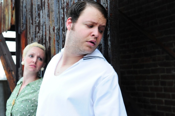 Angie Atkinson and Douglas Sharf sneak away from The Judge as Jo and Ant Knee, who are the central characters of Barbicide's cautionary tale.