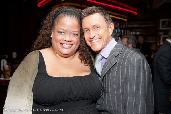 Natalie Douglas and Jeff Harnar at Elaine Stritch and More at Jeff Harnar's DOES THIS MAKE ME LOOK FAT? at Birdland