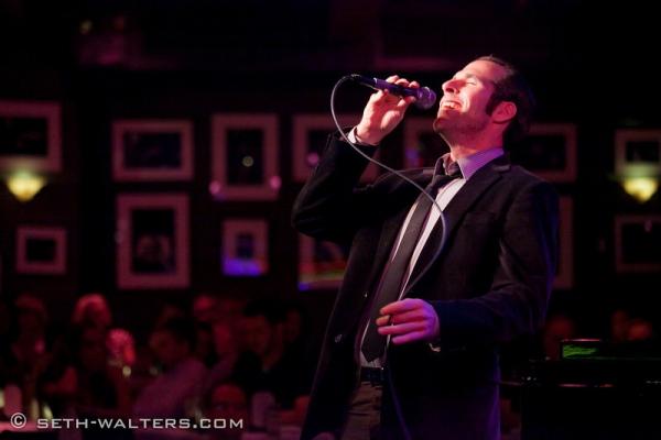 Marcus Goldhaber at Clint Holmes, Richard Rubin & More at Jim Caruso's Cast Party at Birdland, 8/27