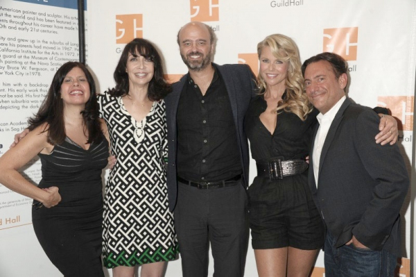 "Dayle Reyfel, Illeana Douglas, Scott Adsik, Christie Brinkley, and Eugene Pack attend ""Celebrity Autobiography"" at Guild Hall in East Hampton. (August 24, 2012)photo credit: Rob Rich/SocietyAllure.com"