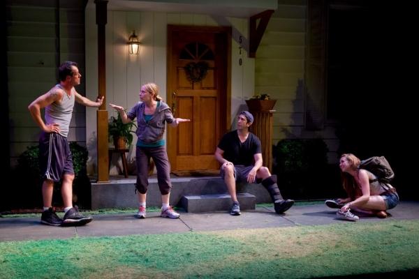 Darren Pettie, Amy Ryan, David Schwimmer and Sarah Sokolovic at David Schwimmer, Amy Ryan and More in Playwrights Horizons' DETROIT!