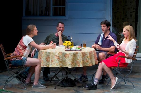 Sarah Sokolovic, Darren Pettie, David Schwimmer and Amy Ryan Photo