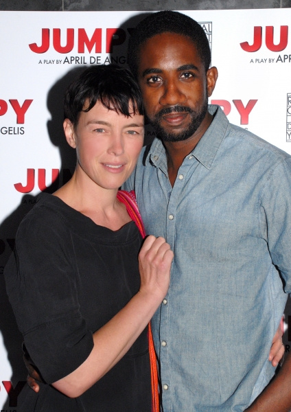 Olivia Williams and Rhashan Stone at Tamsin Greig and More at JUMPY Opening Night Party at Duke of York's Theatre!