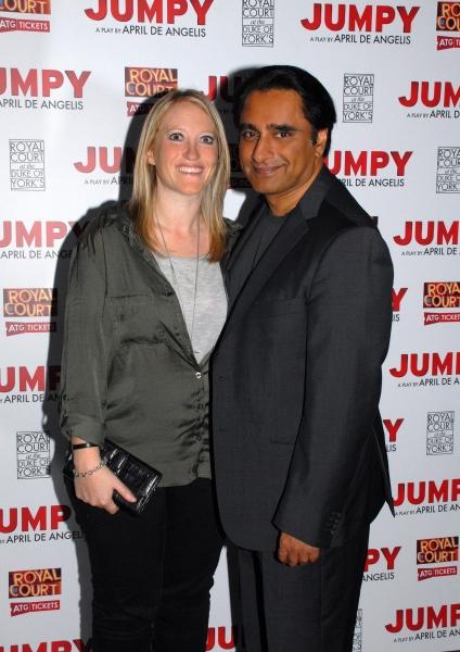 Lia Divirgilio and Sanjeev Bhaskar Photo