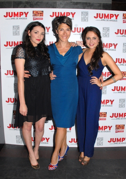 Seline Hizli-Lyndsey, Tamsin Greig-Hilary and Bel Powley-Tilly