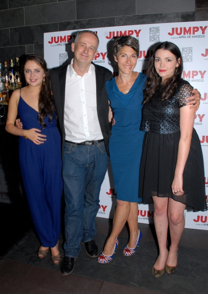 Bel Powley-Tilly,Dominic Cooke-Artistic Director, Tamsin Greig-Hilary and Seline Hizli-Lyndsey