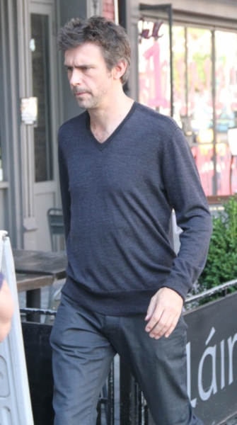 Jack Davenport at Christian Borle, Jack Davenport on Set of SMASH