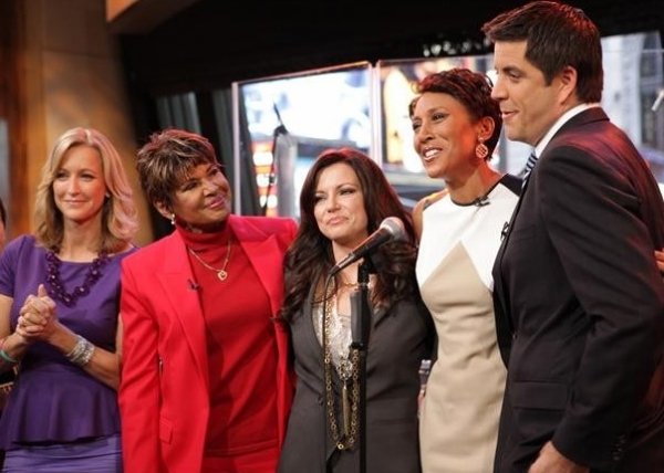 Lara Spencer, Sally-Ann Roberts, Martina McBride, Robin Roberts, Josh Elliott at Robin Roberts Makes Final GMA Appearance