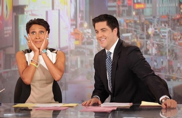 Robin Roberts, Josh Elliott at Robin Roberts Makes Final GMA Appearance