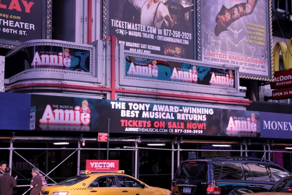Up on the Marquee: ANNIE!