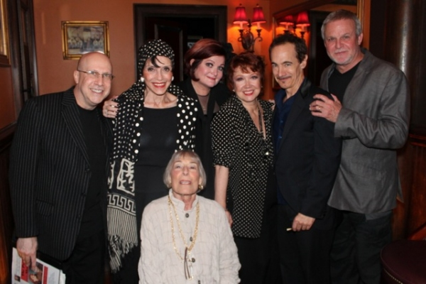 Alex Rybeck,  Liliane Montevecchi, Faith Prince, Donna McKechnie, Jason Graae, Ron Raines, and Mary Rodgers at Elaine Stritch, Faith Prince, Tonya Pinkins and More at 54 Below!