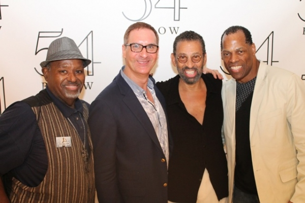Jeffrey Thompson, Mark Nadler, Maurice Hines, and Adrian Bailey at Elaine Stritch, Faith Prince, Tonya Pinkins and More at 54 Below!