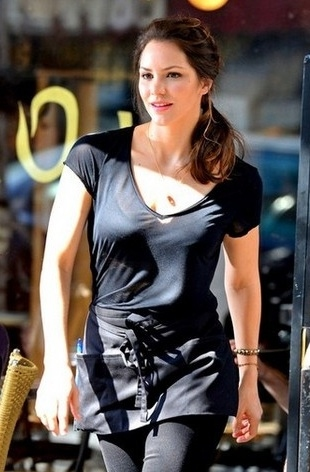 Katharine McPhee at First Look - McPhee, Hilty, Borle on Set of SMASH