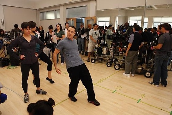 Photo Flash: First Look - McPhee, Hilty, Borle on Set of SMASH