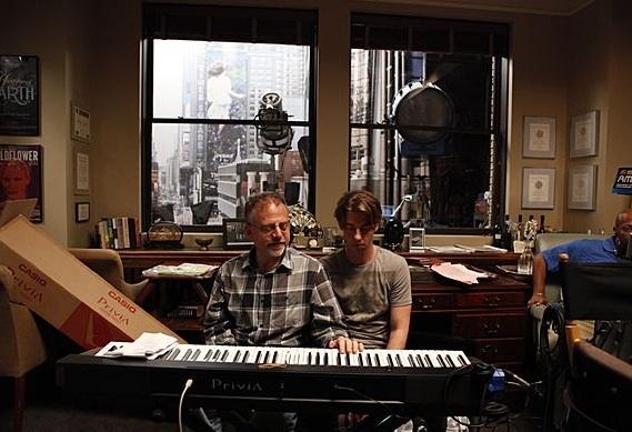 Composer Marc Shaiman, Christian Borle at First Look - McPhee, Hilty, Borle on Set of SMASH