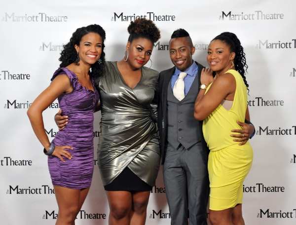 Britney Coleman, Raena White, Eric LaJuan Summers, Rashidra Scott at Opening Night at The Marriott Theatre's DREAMGIRLS