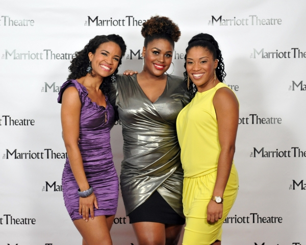 Britney Coleman, Raena White, Rashidra Scott at Opening Night at The Marriott Theatre's DREAMGIRLS