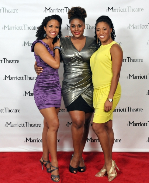 Britney Coleman, Raena White, Rashidra Scott at Opening Night at The Marriott Theatre's DREAMGIRLS
