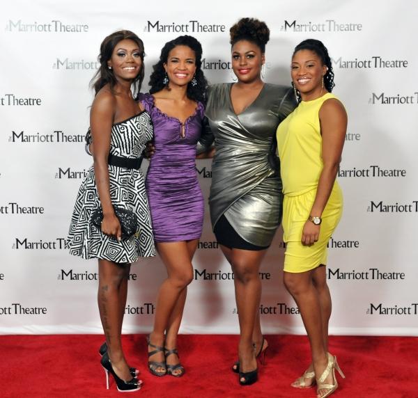 Darilyn Burtley, Britney Coleman, Raena White, Rashidra Scott at Opening Night at The Marriott Theatre's DREAMGIRLS